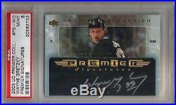 03/04 UD Premier Collection Wayne Gretzky Silver Auto Autograph PSA 9 LA Kings