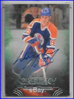 11-12 Parkhurst Champions Base Autograph #1 Wayne Gretzky Auto Oilers