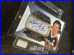 11-12 The Cup WAYNE GRETZKY Scripted Swatches Patch Auto 34/35 WOW