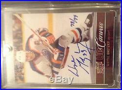 12/13 Ud Wayne Gretzky Canvas Sp Auto Autograph /79 Edmonton Oilers