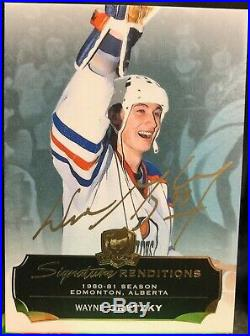 14-15 WAYNE GRETZKY The Cup Signature Renditions Autographed AUTO in GOLD, RARE