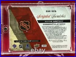 15-16 UD The Cup Scripted Swatches WAYNE GRETZKY Auto All-Star Jersey Patch /35