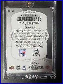 18-19 The Cup Wayne Gretzky Emblems Of Endorsements Dual 3 Color Patches 3/15