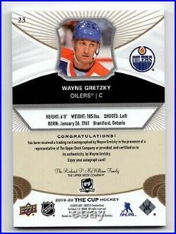 19-20 Upper Deck The Cup Gold Spectrum Foil Autograph Wayne Gretzky 7/12