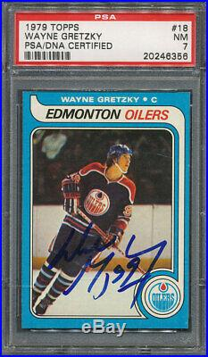 1979/80 Topps #18 Wayne Gretzky PSA/DNA Certified Authentic Signed 6356