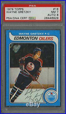 1979-80 Topps #18 Wayne Gretzky Signed Autographed Rookie Card PSA DNA NM 8