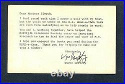 1979 Edmonton Oilers Mystery Sleuth Postcard Wayne Gretzky Autographed