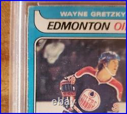 1979 O-pee-chee OPC Wayne Gretzky Autograph Signed RC Rookie PSA DNA INSCRIPTION