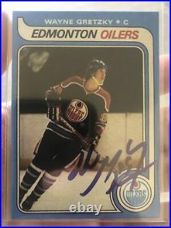 1979 OPC Wayne Gretzky Signed Autographed Rookie RC Card #18 Read Description