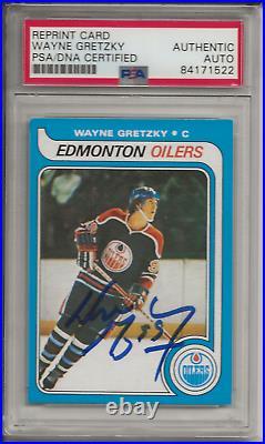 1979 OPC Wayne Gretzky signed autographed rookie card PSA authentic auto #18