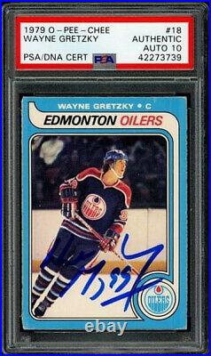 1979 Opc Hockey Wayne Gretzky #18 Rookie Psa/dna Gem Mint 10 Auto Boldly Signed