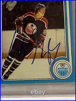 1979 Topps #18 Wayne Gretzky Rookie Signed / Auto. BAS Nice Looking Card