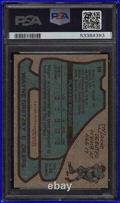 1979 Topps Hockey Wayne Gretzky ROOKIE RC PSA/DNA 10 AUTO #18 PSA AUTH