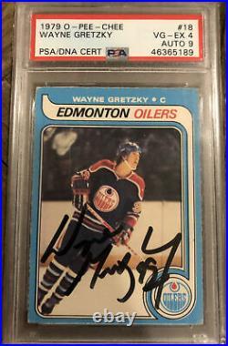 1979 Wayne Gretzky OPC O Pee Chee Signed Autographed Rookie RC #18 PSA 4 9 Auto