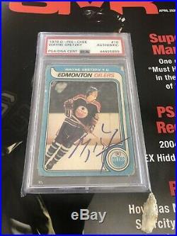 1979 Wayne Gretzky OPC RC Rookie Signed Autographed 1st Print Rare Oilers PSA