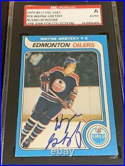 1979 o-pee-chee Wayne Gretzky Autograph Auto Rc Sgc Psa Dna Signed Rookie NHL