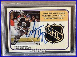 1981 OPC Wayne Gretzky Auto NHL 1980 Assist Leader 383 PSA DNA Certified Signed