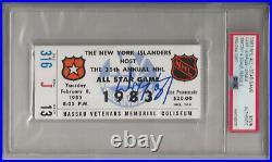 1983 NHL All Star Game Ticket Sub Signed Autographed Wayne Gretzky MVP PSA