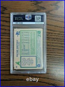 1983 Opc Hockey Wayne Gretzky #29 Psa/dna Auto 10 Signed Trading Card