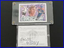 1992 92-93 UPPER DECK WAYNE GRETZKY HOCKEY HEROES CHECKLIST AUTOGRAPH with COA