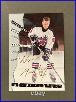 1994-95 Be A Player Autographs #108 Wayne Gretzky/300 VERY RARE AUTO