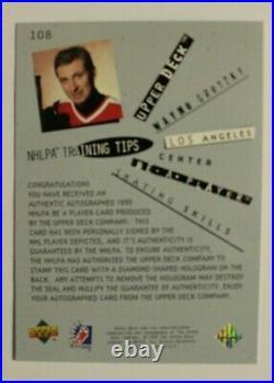 1994 Be A Player BAP Wayne Gretzky SSP Autograph AUTO #108