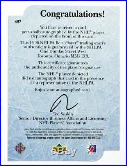1995-96 Be A Player Autographs Wayne Gretzky #S97 on Card Auto /234