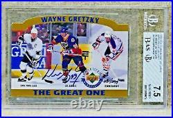 1996-97 UD WAYNE GRETZKY Auto 381/399, 3220/5000 GRADED BAS 7.5 One of a kind