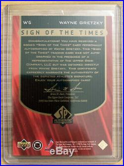 1997-98 SP Authentic Sign of The Times Wayne Gretzky AUTO WG SP RARE