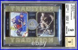 1997-98 Sp Authentic Traditions Gordie Howe Wayne Gretzky Autograph 68/158 Bgs