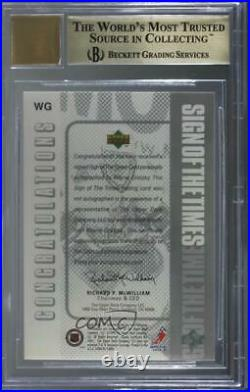 1998-99 SP Authentic Sign of the Times Wayne Gretzky #WG BGS 9.5 Auto HOF