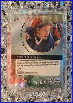 1998-99 Wayne Gretzky /90 AUTO SSP Be A Player Autograph #90 BAP RARE MINT