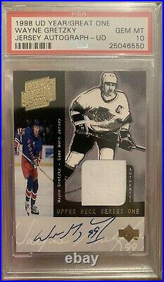 1998 Ud Year Of The Great One Wayne Gretzky Jersey Auto 37/40 Psa 10 Pop 1