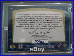 1998 Upper Deck Wayne Gretzky Autographed Card #77/560 New York Rangers