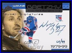 1999-00 Upper Deck Ovation Super Signatures /99 Wayne Gretzky #SS1 Auto HOF