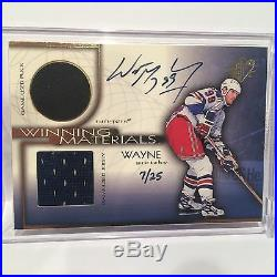 1999 Ud Winning Materials Wayne Gretzky Game Used Pack, Jersey, Auto 7/25