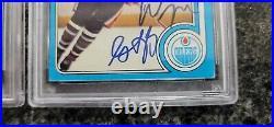 (2) 79 Wayne Gretzky Rookies OPC & TOPPS both PSA 10's Signed Vintage Autos 1/1