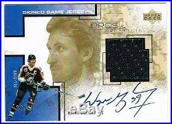 2000-01 Upper Deck Pros And Prospects Jersey Autograph #s-wg Wayne Gretzky 39/50
