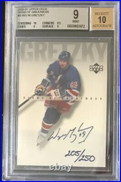 2000 01 Upper Deck Signs Of Greatness Gretzky Auto Graded Rangers