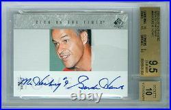 2002-03 Ud Premier Collection Gold Wayne Gretzky Sp Auto 32/50 Bgs 9 Mint