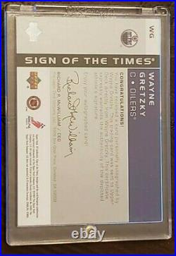 2002 SP Authentic Wayne Gretzky Sign Of The Times Autograph #WG