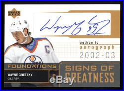 2002 Ud Signs Of Greatness Authentic Autograph Sg-wg Wayne Gretzky Best On Ebay