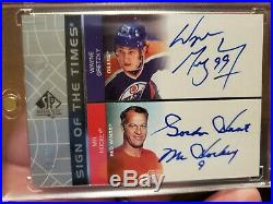 2002 Upper Deck UD Sign of the Times Auto Signed Wayne Gretzky Gordie Howe /99
