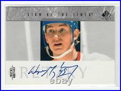 2003-04 Sp Authentic Sign Of The Times Autograph Auto Wayne Gretzky Oilers Hof