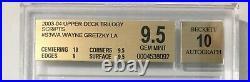 2003-04 Upper Deck Trilogy Scripts #S3WA Wayne Gretzky LA BGS 9.5 w 10 Auto