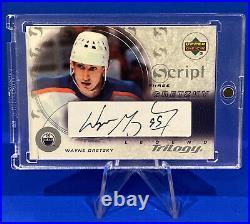 2003-04 Wayne Gretzky Ud Trilogy Scripts Sp Auto Signature Edmonton Oilers Goat