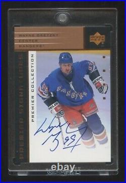 2003 Ud Premier Collection Wayne Gretzky Autograph Sp Auto On Card Beauty Hof