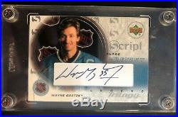 2003 Upper Deck Wayne Gretzky Script Three Legend Trilogy Autograph #S3-GR Mint