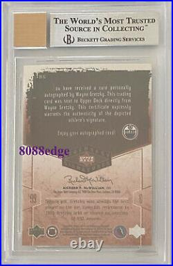 2004-05 Ud Legendary Signatures Auto Wayne Gretzky On Card Autograph Bgs 9