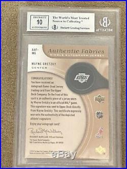 2005-06 SP Wayne Gretzky Game Used Fabrics Jersey BGS 9 W 10 Auto Signed #48/75